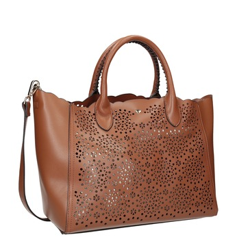 Hnědá dámská kabelka s perforací bata, hnědá, 961-3265 - 13