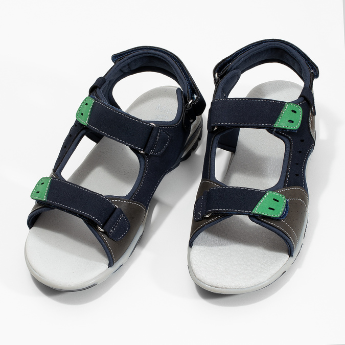 Chlapecké sandály ve sportovním stylu mini-b, modrá, 461-9607 - 16