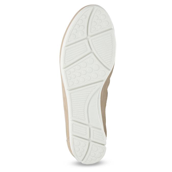 Kožené baleríny na výrazné podešvi bata, béžová, 526-8662 - 18