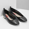 Černé baleríny se zlatým podpatkem bata-red-label, černá, 521-6613 - 26