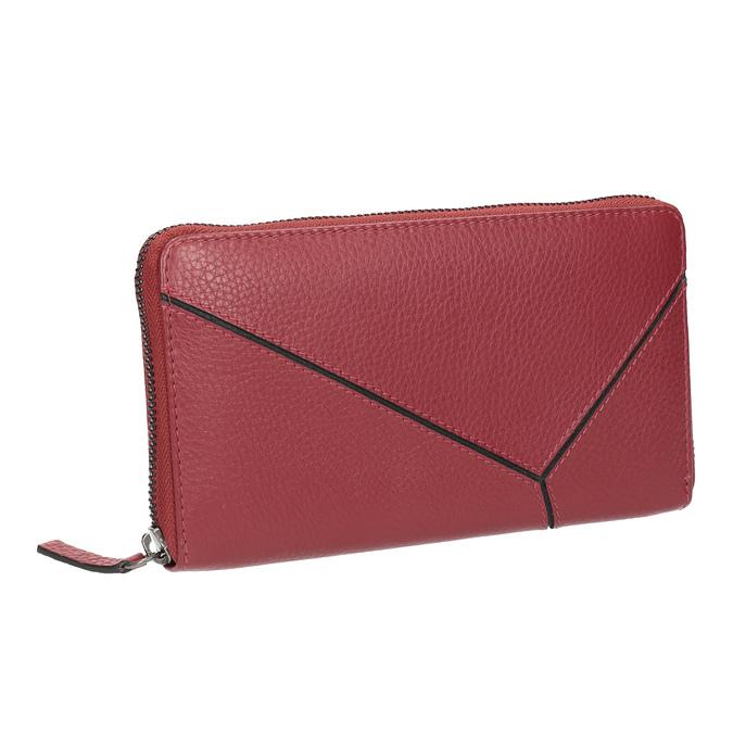 Červená kožená peněženka se vzorem bata, červená, 944-5601 - 13
