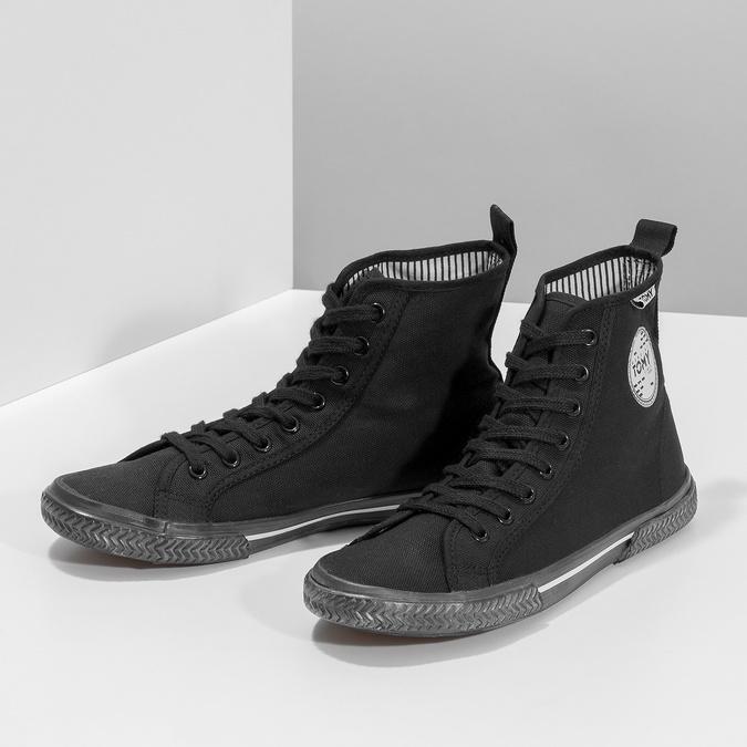 Černé kotníčkové tenisky tomy-takkies, černá, 589-6173 - 16