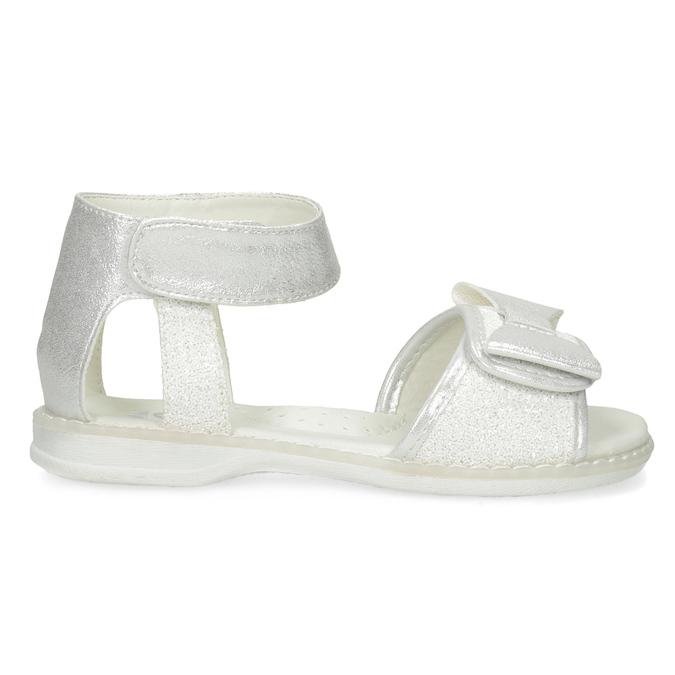 Dívčí stříbrné sandály s mašlí mini-b, stříbrná, 261-1117 - 19