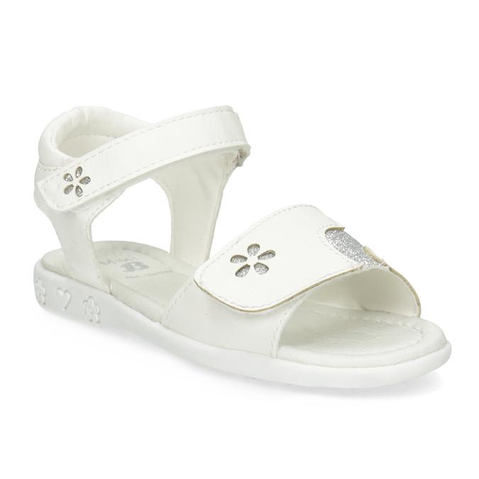 Bílé dívčí sandály se třpytkami mini-b, bílá, 261-1144 - 13