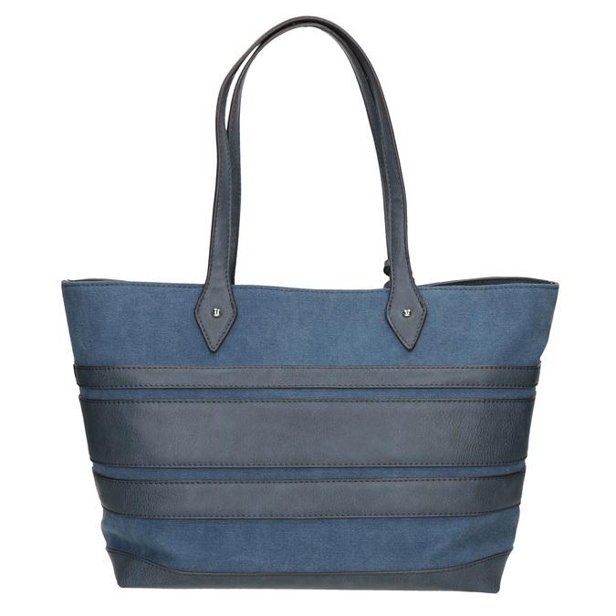 Modrá dámská kabelka se střapci bata, modrá, 969-9672 - 16
