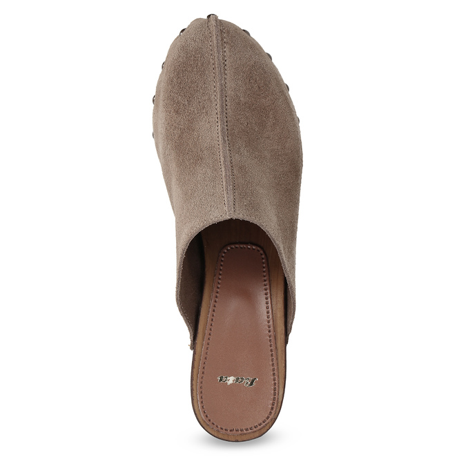 Dřeváky na stabilním podpatku bata, hnědá, 763-3605 - 17