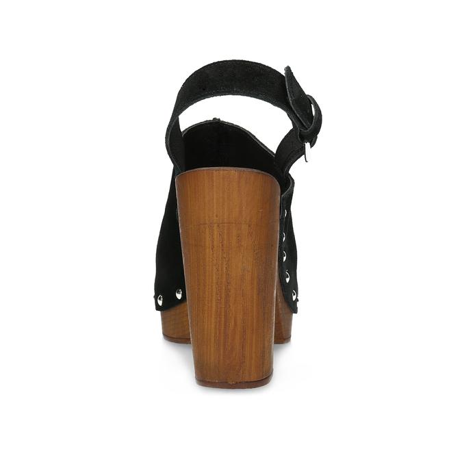 Dřeváky s otevřenou špičkou bata, černá, 763-6603 - 15