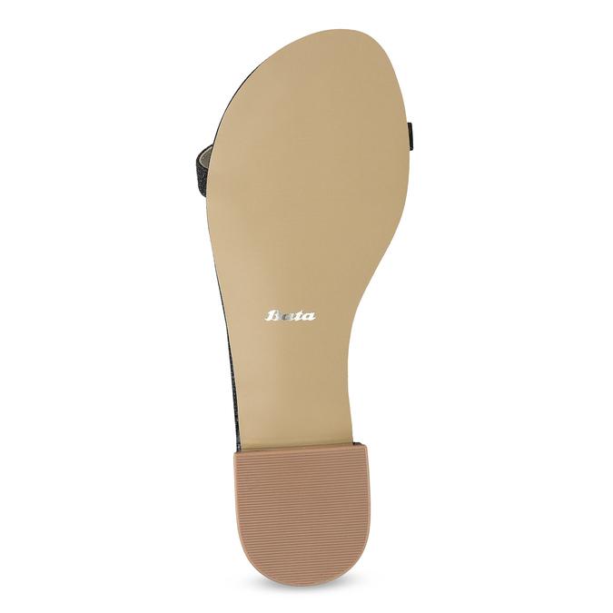Zlaté sandály s perličkami bata, zlatá, 569-5606 - 18