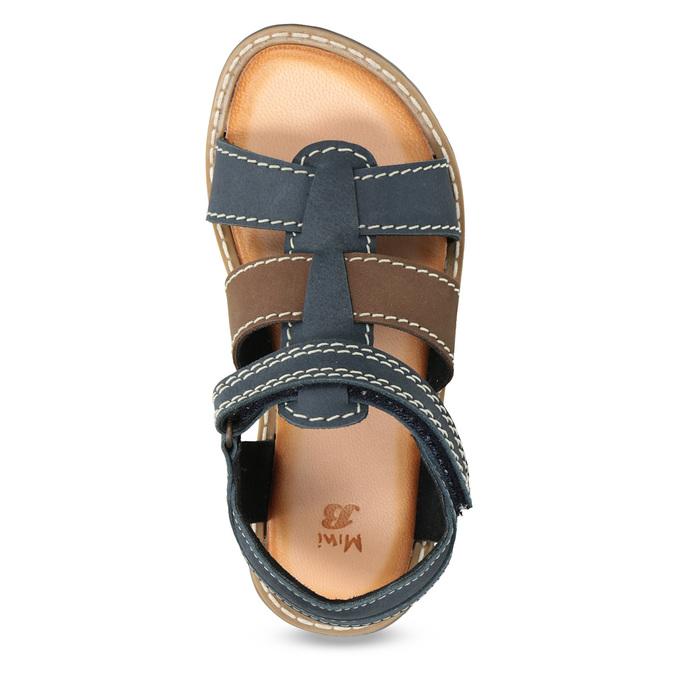 Chlapecké sandály z kůže mini-b, modrá, 366-9610 - 17