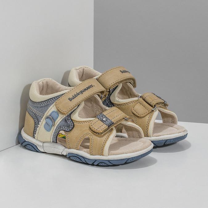 Dětské sandály na suché zipy bubblegummers, hnědá, 161-3606 - 26