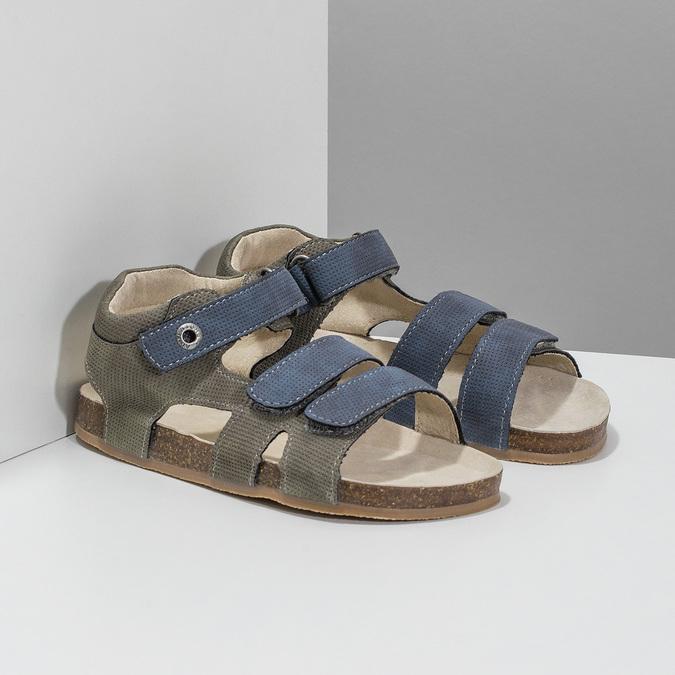 Dětské sandály na suché zipy mini-b, modrá, 261-9609 - 26