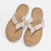 Dámské kožené žabky béžové bata, béžová, 566-2645 - 16