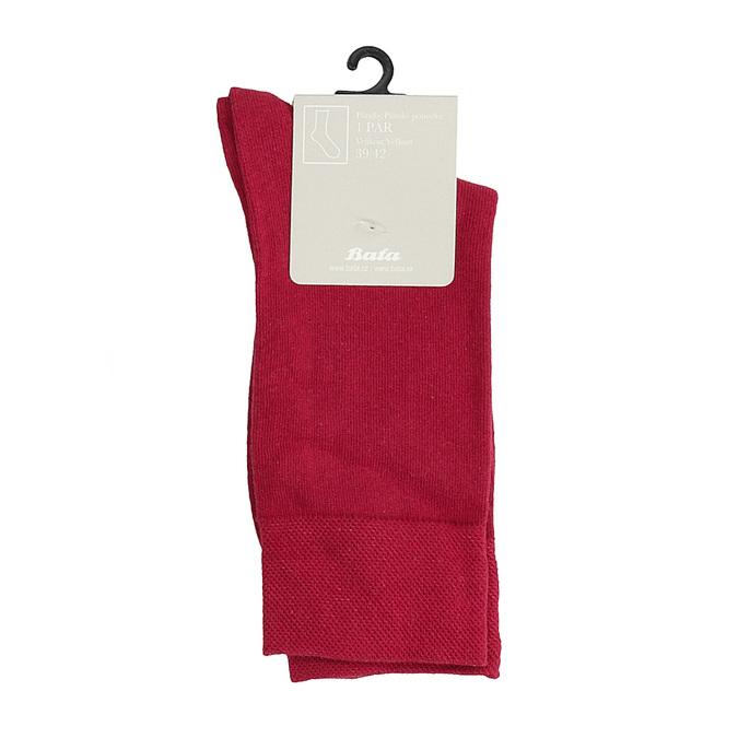 Červené pánské ponožky vysoké bata, červená, 919-5646 - 13