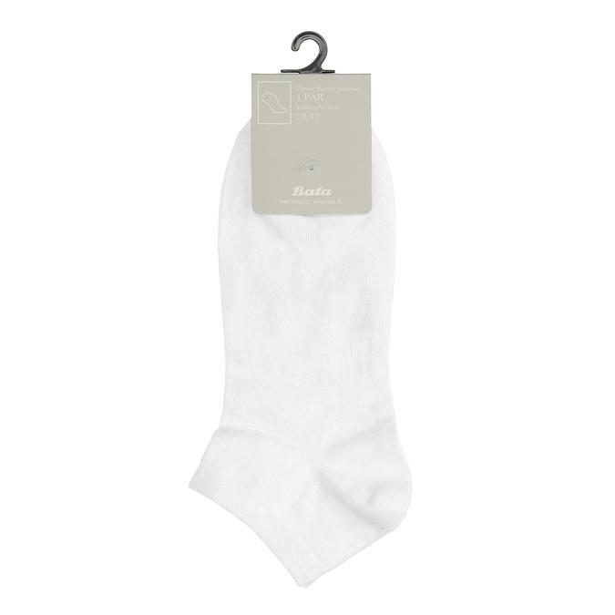 Pánské bílé kotníkové ponožky bata, bílá, 919-1802 - 13