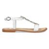 Kožené dívčí sandály s kamínky na nártu mini-b, bílá, 364-1128 - 19