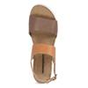 Dámské kožené sandály s korkovou podešví weinbrenner, hnědá, 566-4644 - 17