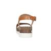 Dámské kožené sandály s korkovou podešví weinbrenner, hnědá, 566-4644 - 15