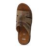 Pánské kožené nazouváky s prošitím bata, hnědá, 866-4615 - 17