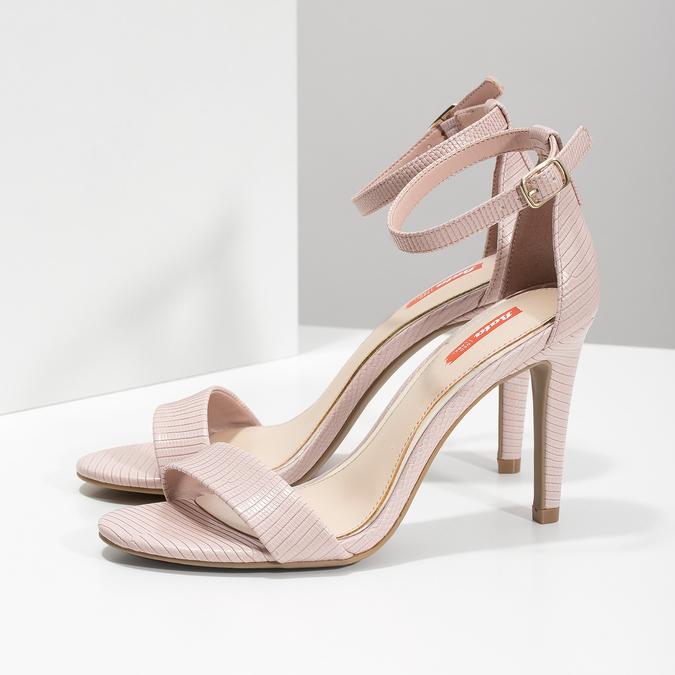 Růžové sandály na jehlovém podpatku bata-red-label, růžová, 661-5610 - 16