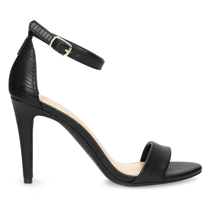 Černé sandály na jehlovém podpatku bata-red-label, černá, 661-6610 - 19