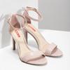 Růžové sandály na jehlovém podpatku bata-red-label, růžová, 661-5610 - 26