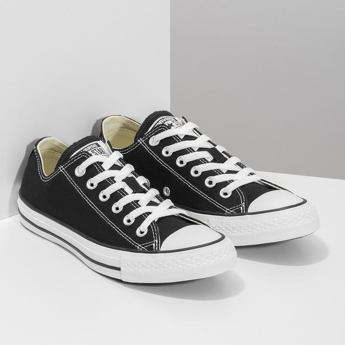 Dámské černé tenisky s gumovou špičkou converse, černá, 589-6279 - 26