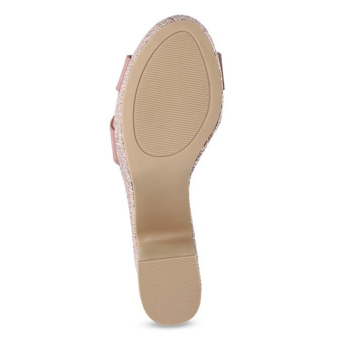 Růžové dámské sandály na širokém podpatku bata-red-label, růžová, 666-9621 - 18