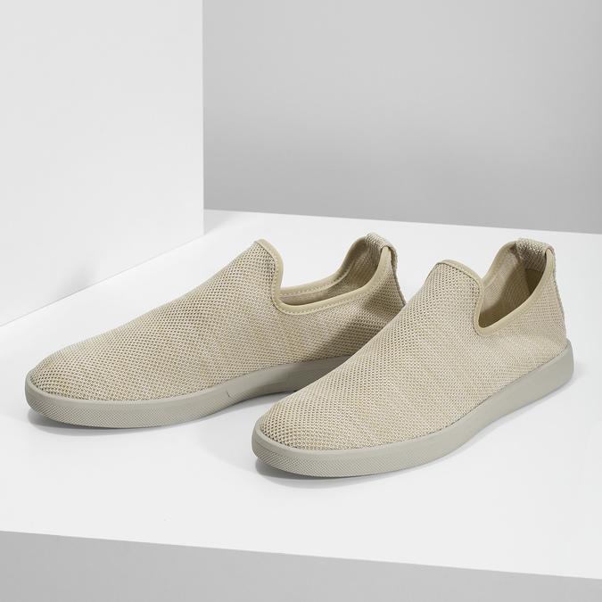 Béžové pánské Slip-on boty bata-red-label, béžová, 839-8601 - 16