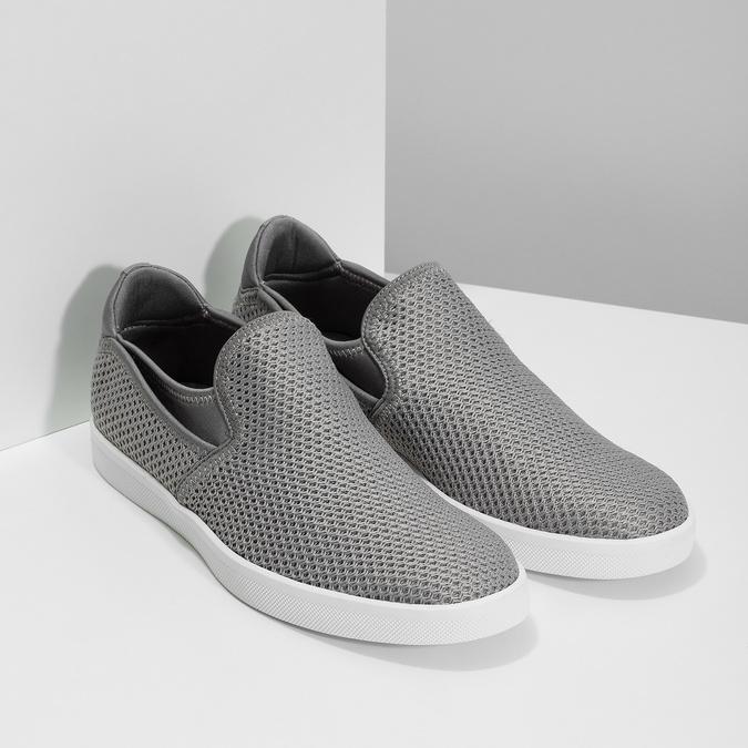 Šedé Slip-on boty pánské bata-red-label, šedá, 839-2602 - 26