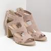 Růžové sandály na stabilním podpatku insolia, růžová, 769-5617 - 26