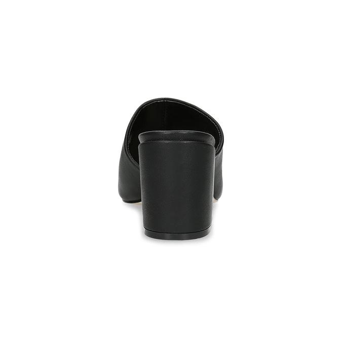 Černé nazouváky na podpatku insolia, černá, 761-6620 - 15