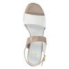 Kožené sandály na nízkém podpatku bata, béžová, 666-8626 - 17