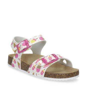 Dívčí sandály s potiskem zmrzlin mini-b, vícebarevné, 261-0209 - 13