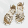 Zlaté dívčí sandály s volánem mini-b, zlatá, 361-8253 - 16