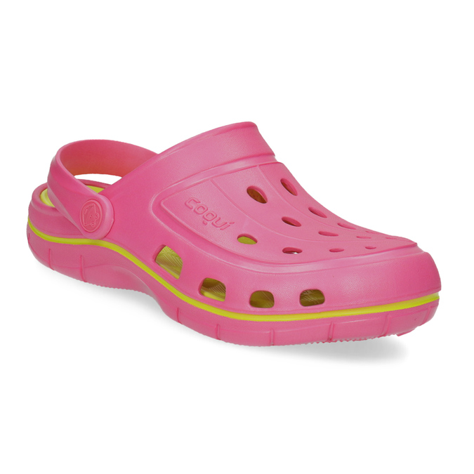 Růžové sandály typu Clogs coqui, růžová, 372-5656 - 13