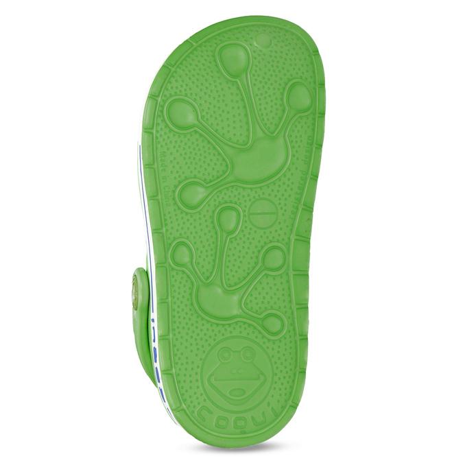 Dětské zelené sandály s žabkou coqui, zelená, 272-7603 - 18