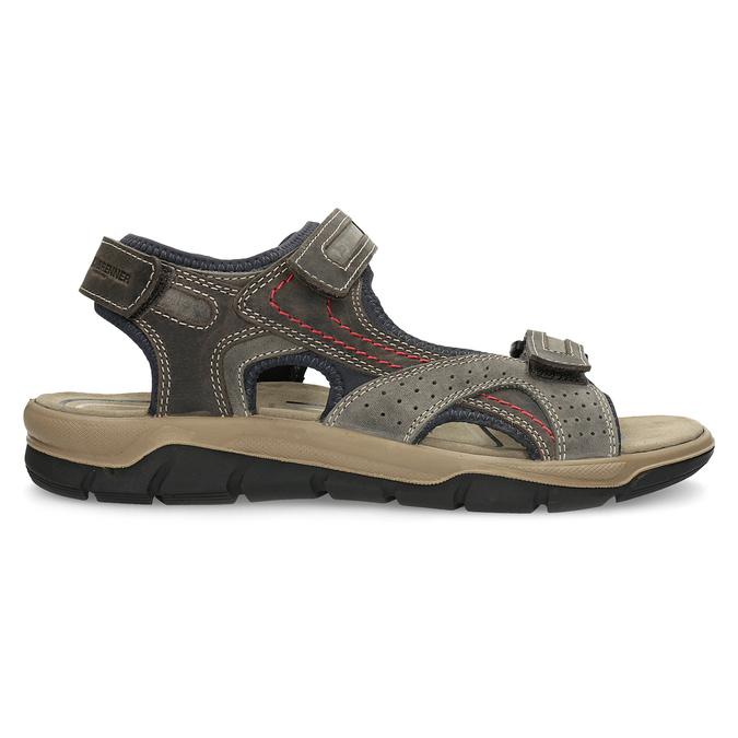 Kožené sandály na suché zipy hnědé weinbrenner, hnědá, 866-4642 - 19
