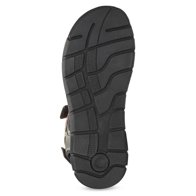 Kožené sandály na suché zipy hnědé weinbrenner, hnědá, 866-4642 - 18