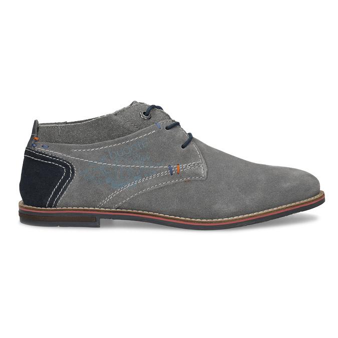 Chukka boots z broušené šedé kůže bugatti, šedá, 823-2015 - 19