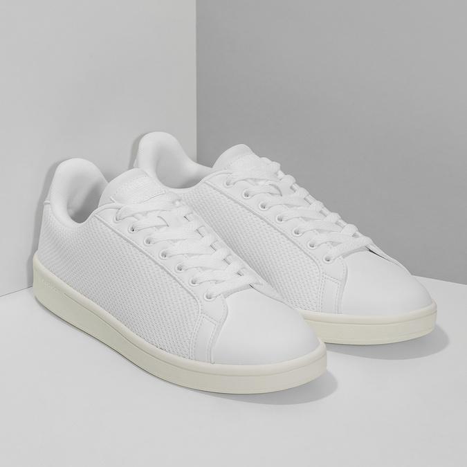 Bílé pánské tenisky se síťovinou adidas, bílá, 809-1395 - 26