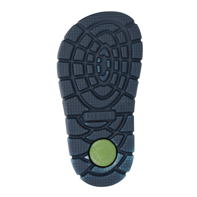 Chlapecké kožené sandály s potiskem mini-b, modrá, 166-9604 - 19