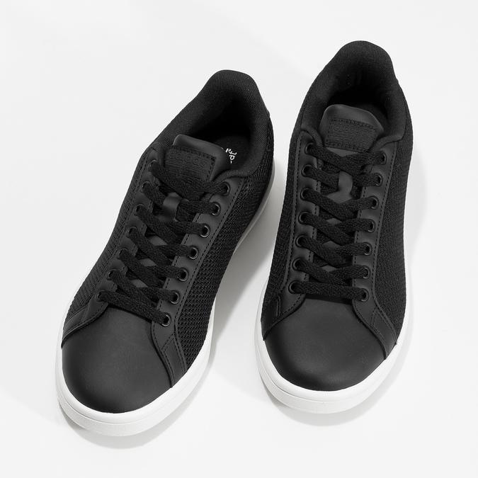 Černé pánské tenisky se síťovinou adidas, černá, 809-6395 - 16