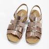 Kožené dámské sandály na nízkém podpatku gabor, růžová, 666-8338 - 16
