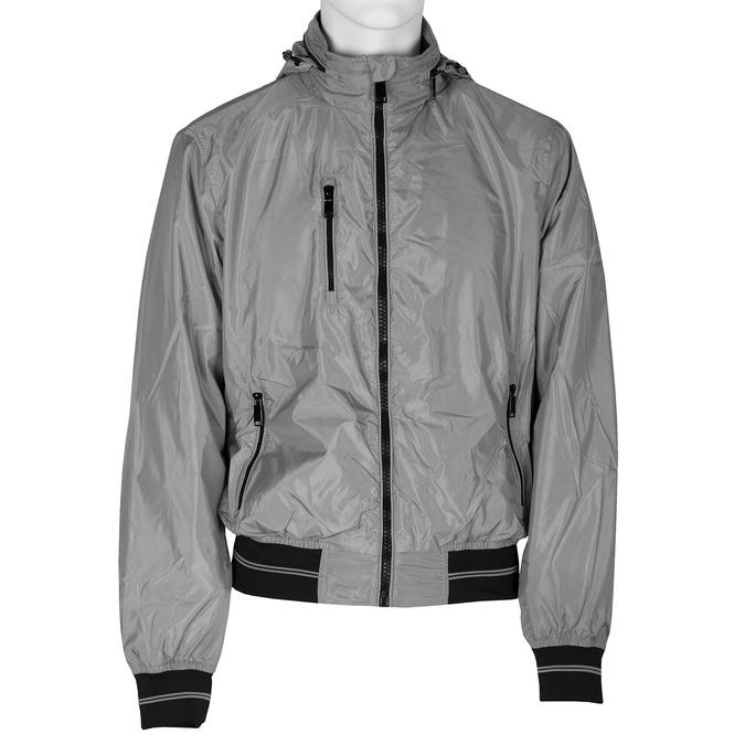 Šedá pánská bunda s kapucí bata, šedá, 979-2120 - 13