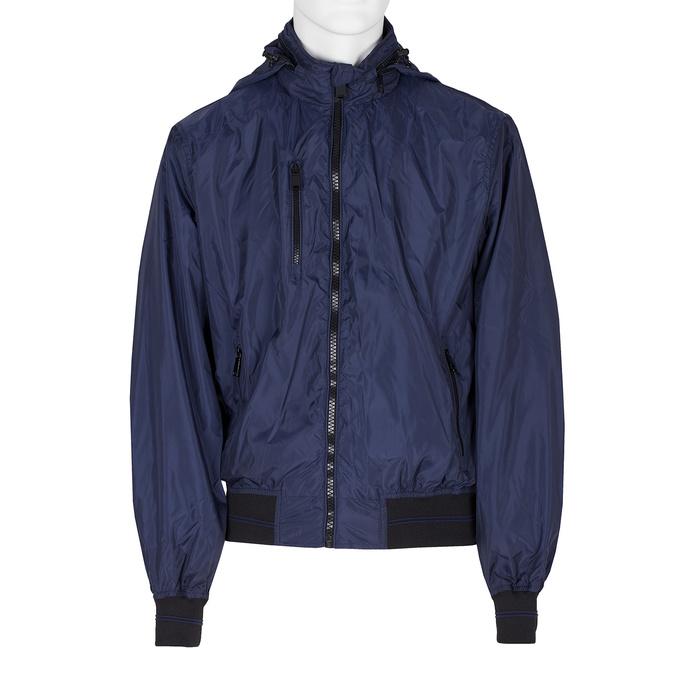 Modrá pánská bunda s kapucí bata, modrá, 979-9220 - 13
