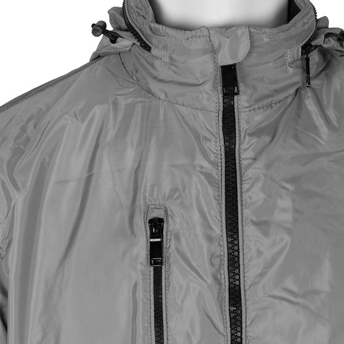 Šedá pánská bunda s kapucí bata, šedá, 979-2120 - 16