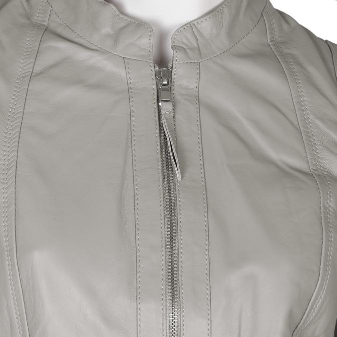 Šedá kožená bunda dámská bata, šedá, 974-2180 - 16