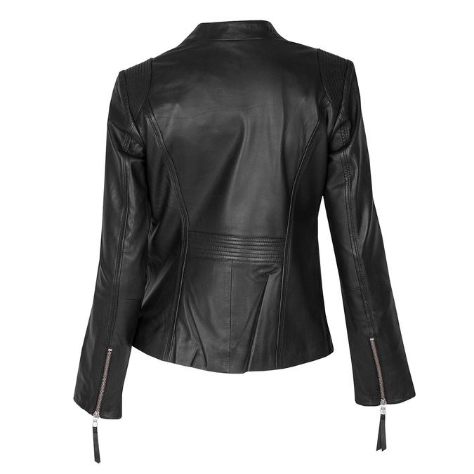 Černá kožená bunda dámská bata, černá, 974-6180 - 26