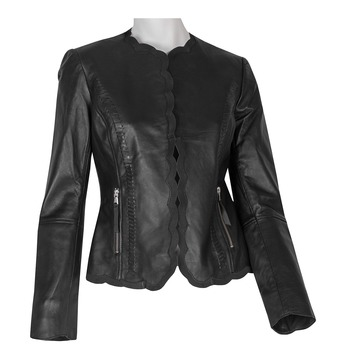 Kožené dámské sako černé bata, černá, 974-6179 - 13