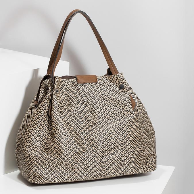 Dámská kabelka se vzorem bata, vícebarevné, 969-6196 - 17